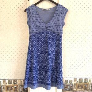 Athleta Blue Patterned Dress Size Small